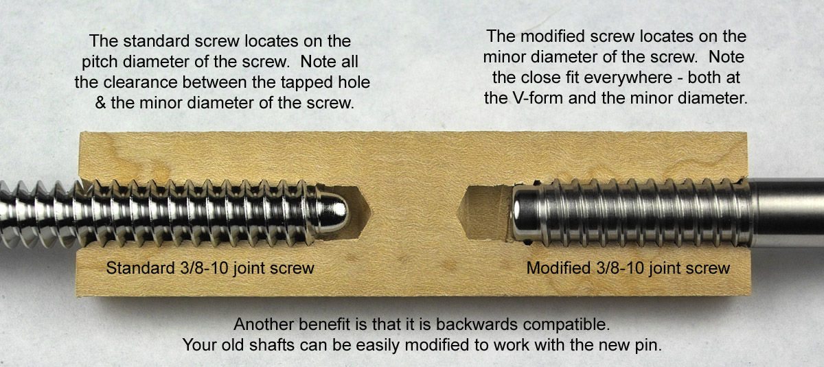 Pool Cue Joint pin and tap